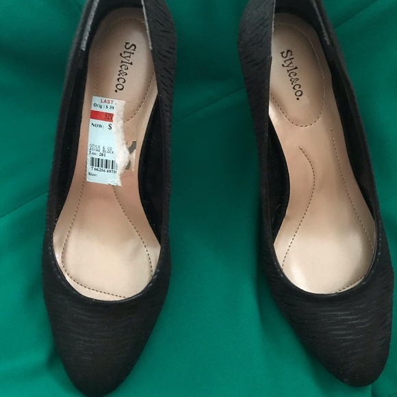 Style & Co Shoes - Black office/ or dress shoes